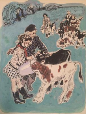 Neizvestny khudozhnik  - Calves