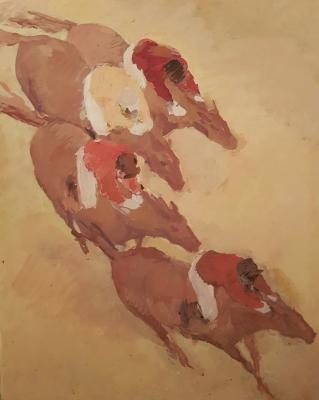 """Neizvestny khudozhnik  """"Horse Racing"""""""