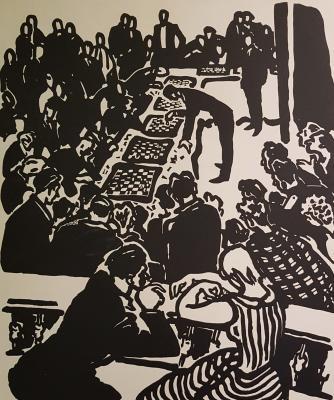 Неизвестный художник . Шахматный турнир