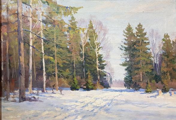 Неизвестный художник . Зимний день