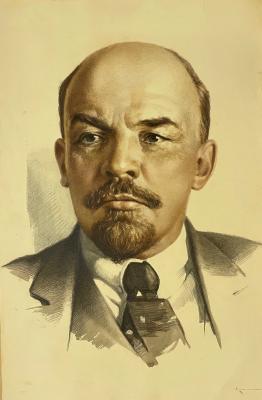 Неизвестный художник . Портрет В. И. Ленина