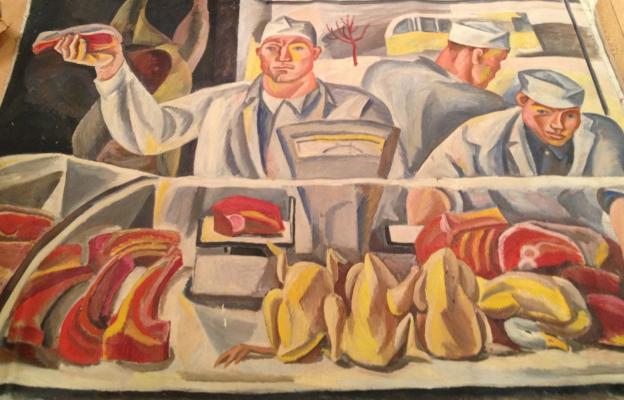 "Zharenova E. A. ""Sellers of meat."""