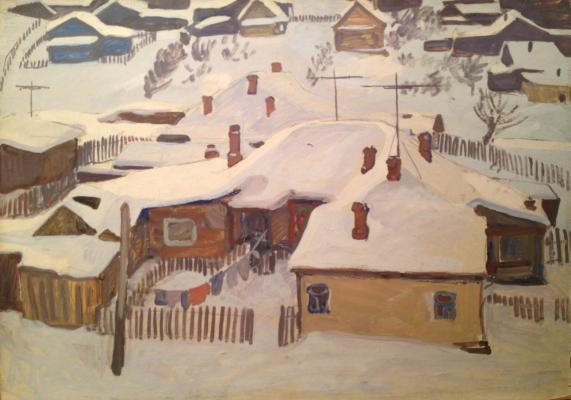 "Zharenova E. A. ""Winter in Yaroslavl."""