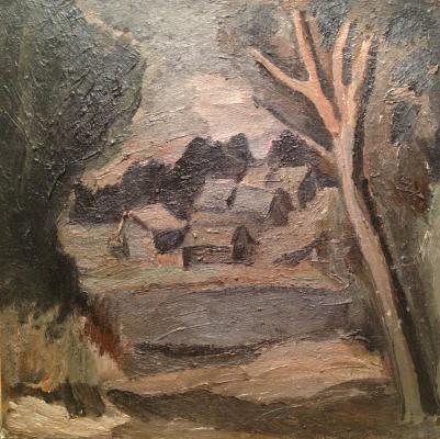 """Vasiltsov V. K. """"The village by the river."""""""