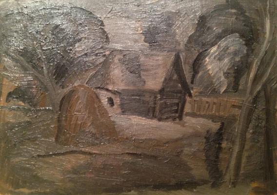 """Vasiltsov V. K. """"Rural landscape with haystack ."""""""