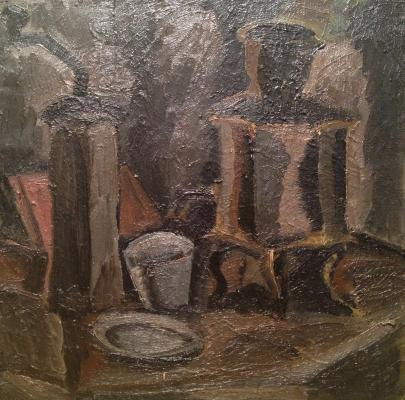 "Vasiltsov V. K. ""Still life with a coffee grinder ."""