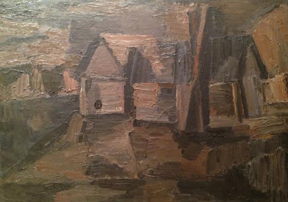 "Vasiltsov V. K. ""Rural landscape ."""