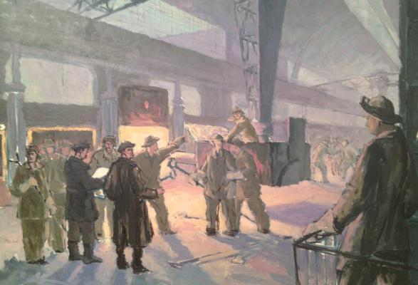 "Zharenov A. S. ""Steelmakers in the shop ."""