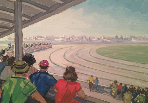 """Zharenov A. S. """"At the races. Hippodrome. Kyrgyzstan."""""""