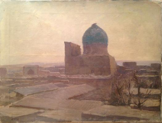"Tutunov S. A. ""Winter Evening in Old Bukhara ."""