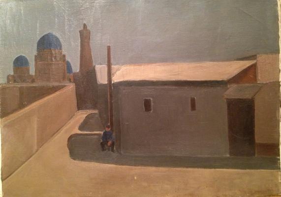 "Manokhin V. B. ""Street in Bukhara."""