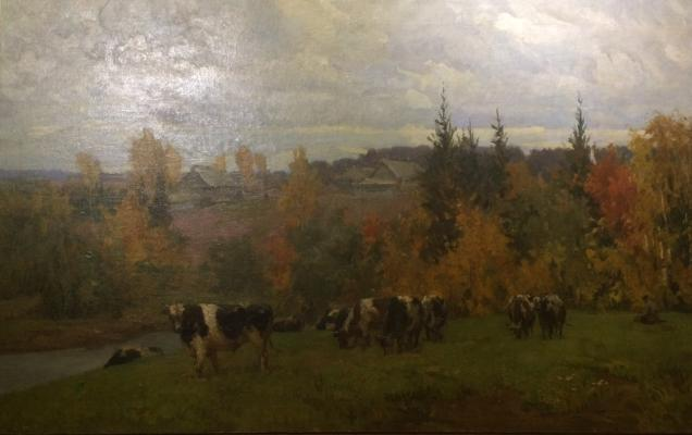 "Vasin V. A. ""Landscape with cows."""