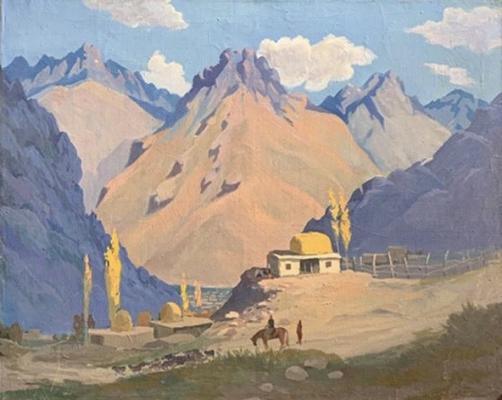 Иногамов Закир. Горный пейзаж