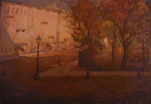 "Cherkassky A. M. ""Autumn. Rumiantsevsky Square. Academy of Arts. Petrograd."""