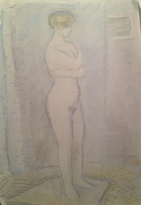 "Rastorguyev Y. A. ""Nude on a light background."""