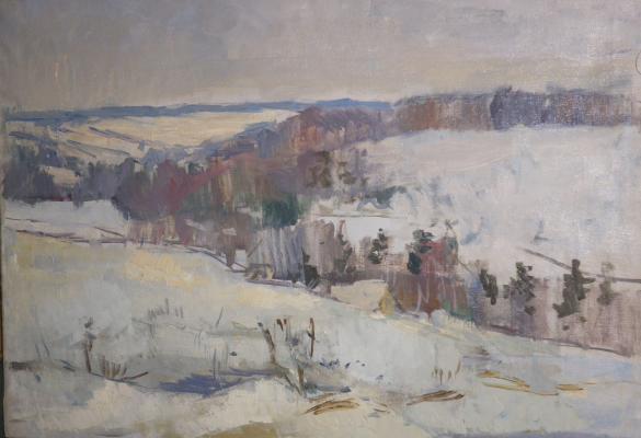 """Chekmazov I. I. """"Winter landscape ."""""""