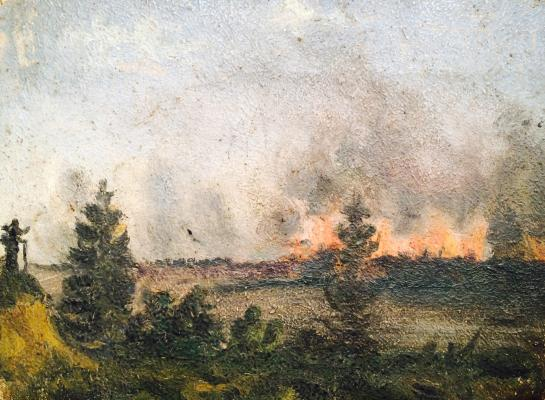 """Polenov V. """"Fire in the forest"""""""