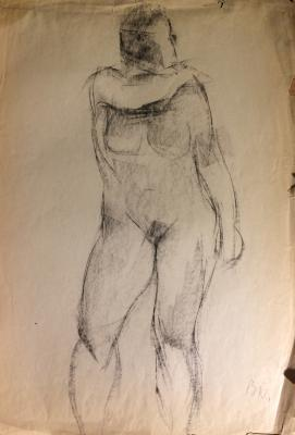 "Pochitalov V. V. ""Nude with hand raised."""