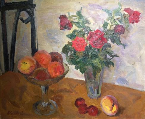 "Surovtsev A. P. ""Peaches and roses."""