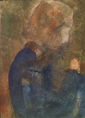 Жегин (Шехтель) Лев Федорович. Девушка в голубом