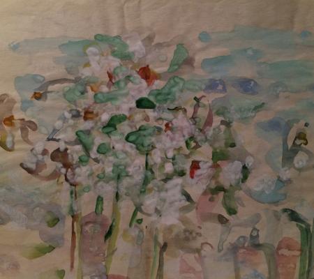 """Zhegin (Shekhtel) L. F. """"White Bouquet"""""""