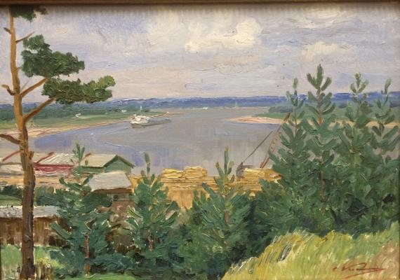 "Kamanin S. ""The river Svir. Lodeynoye field."""