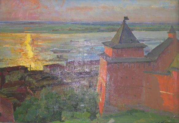 Каманин Сергей Михайлович. У стен Нижегородского Кремля.