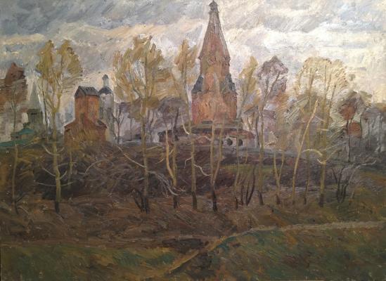 Papikyan Albert Stepanovich - Late autumn in Kolomenskoye .