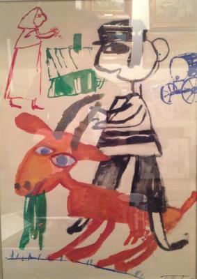 """Inger G. B. """"Motl boy on a goat ."""""""