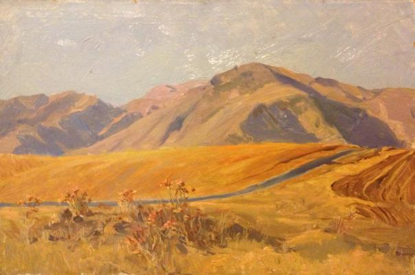 "Ponomarev N. A. ""In the mountains ."""