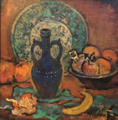 "Vitman I. I. ""Still life with a jug and fruit"""