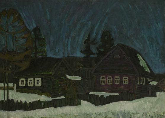 Курников Николай Федорович. Ночь в деревне.