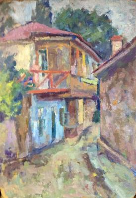 "Gluskin A. M. ""Gursuf. House with red balcony."""