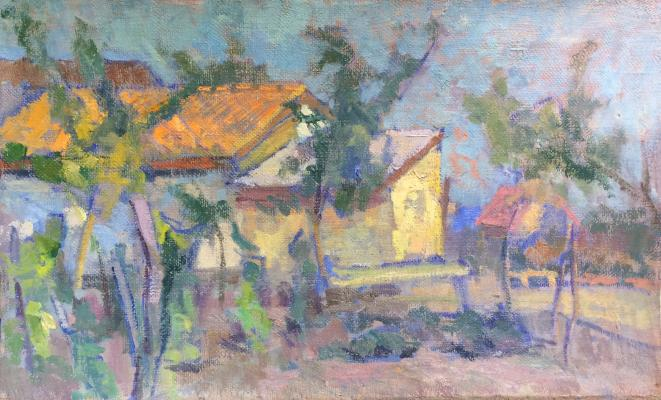 "Gluskin A. M. ""Landscape with houses"""