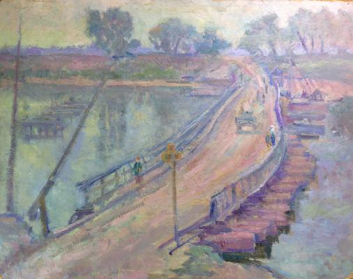 "Gluskin A. M. ""Bridge over the Oka River."""