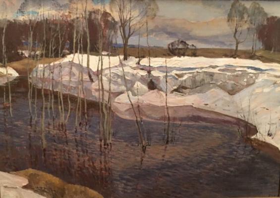 "Tatarinov G. A. ""Last snow."""