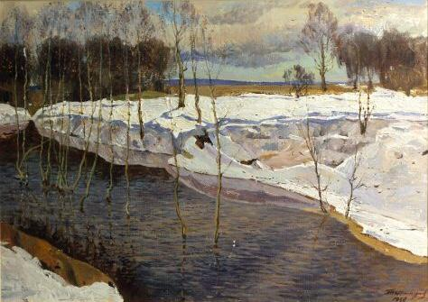 "Tatarinov G. A. ""The last snow."""
