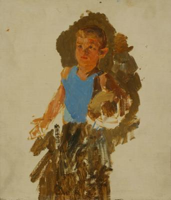 "Reshetnikov F. P. ""Boy with soccer Ball. Study for Re-examination."""