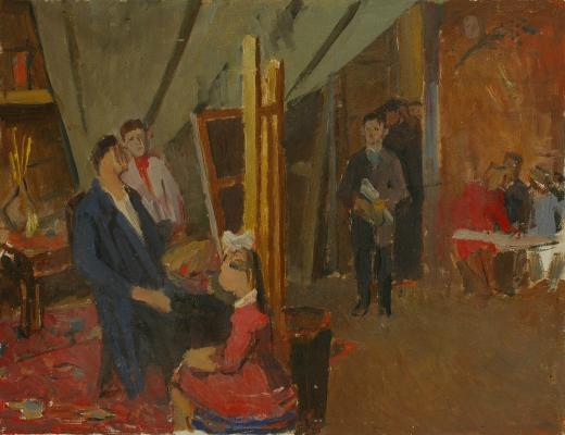 "Reshetnikov F. P. ""In art school."""