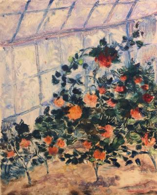 "Raube-Gorchilina M. V. ""In a greenhouse."""