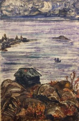 "Raube-Gorchilina M. V. ""Little House on the rocky shore."""
