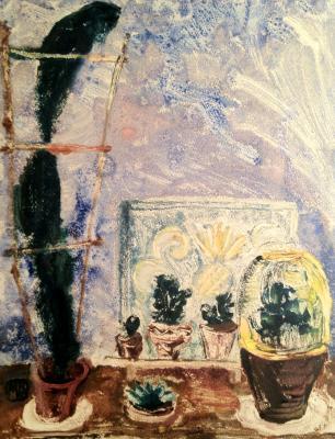 "Raube-Gorchilina ""Cacti on the window."""