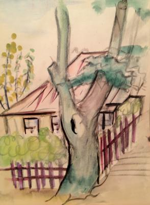 """Raube-Gorchilina M. V. """"Tree in front of the house."""""""