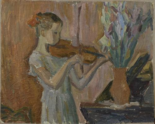 "Chernetsov V. S. ""Girl with violin"""