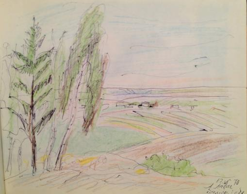 "Labas A. A. ""Landscape in the Tula region."""