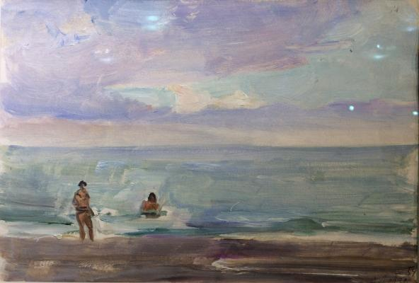 """Labas A. A. """"Bathing in the sea."""""""