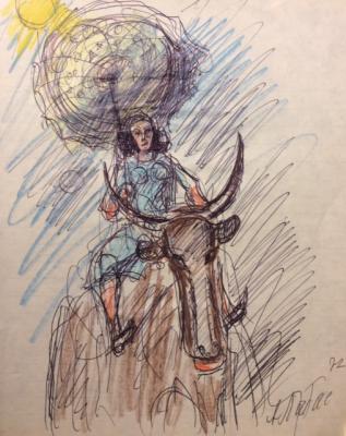 Лабас Александр Аркадьевич. Дама на буйволе