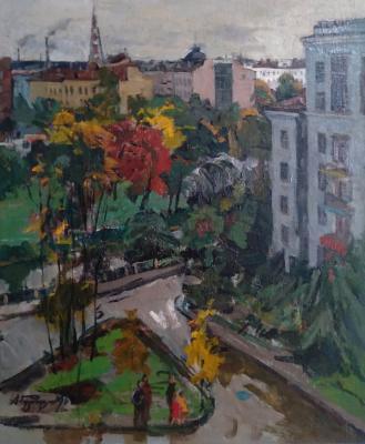 Гуляев Александр Григорьевич. Мой район осенью. Вид из окна