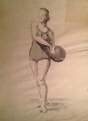 Гусева Тамара Петровна. Девушка с мячом.