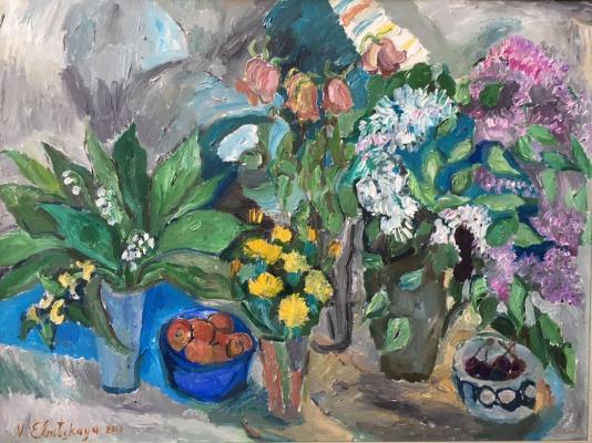 """Yelnitskaya V. """"Lilac and dandelions."""""""